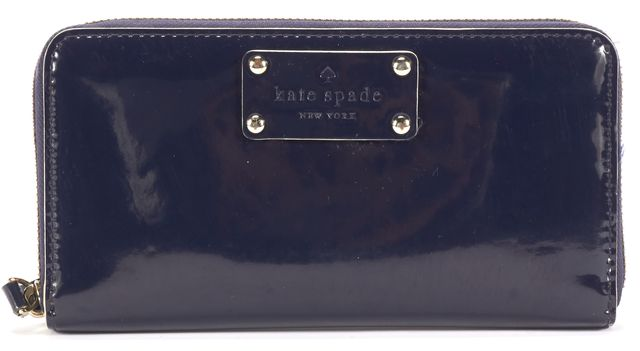 KATE SPADE Blue Patent Leather Wallet