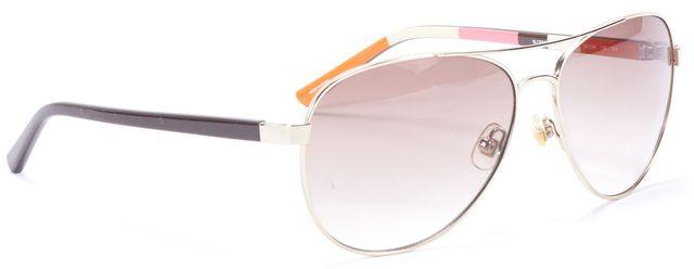 KATE SPADE Brown Acetate Aviator Sunglasses