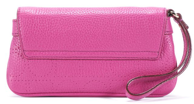 KATE SPADE Pink Pebbled Leather Wallet Clutch