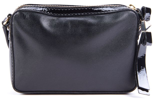KATE SPADE Black Rectangular Patent Leather Strap Small Crossbody