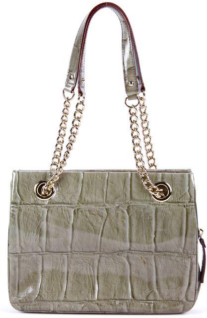 KATE SPADE Green Gold Leather Quilted Shoulder Bag Handbag
