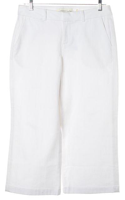 KATE SPADE White Wide Leg Cropped Capri Jeans