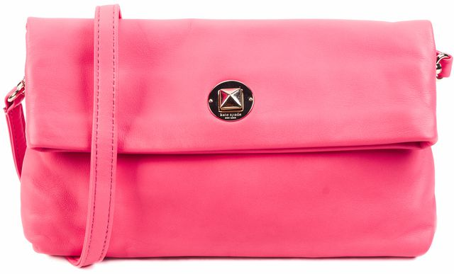 KATE SPADE Pink Leather Crossbody Clutch