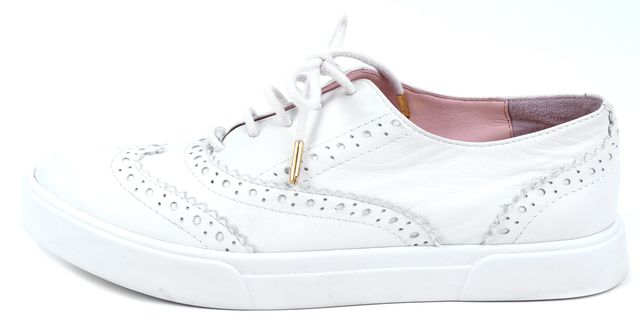 KATE SPADE White Leather Sneaker Oxfords