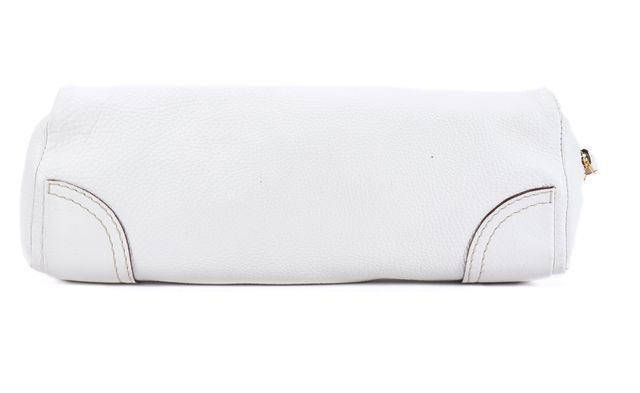 KATE SPADE White Leather Long Slim Clutch