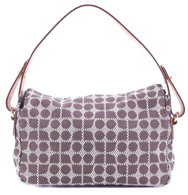 KATE SPADE Brown White Red Classic Noel Shoulder Bag Handbag