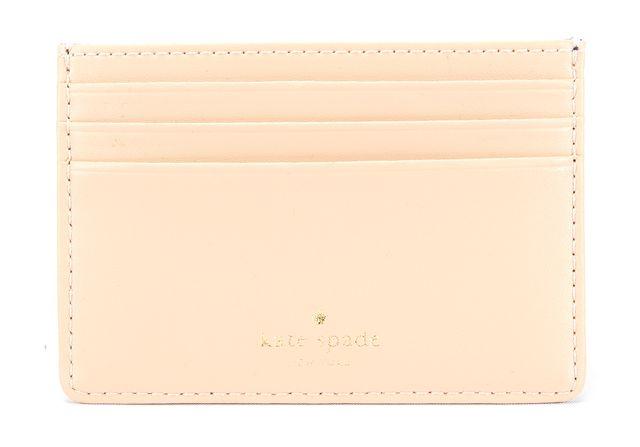 KATE SPADE Black and Beige Leather Card Holder Wallet