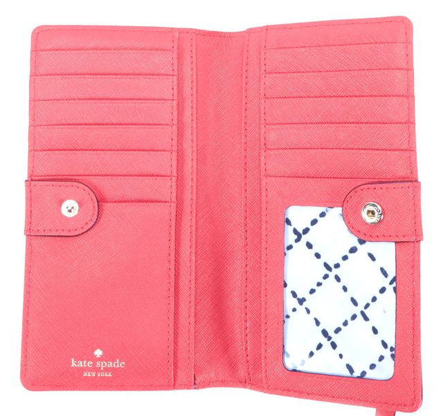 KATE SPADE Red Leather Snap Wallet