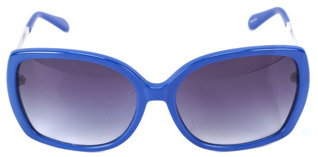 KATE SPADE Royal Blue Silver-Tone Margita Square Sunglasses