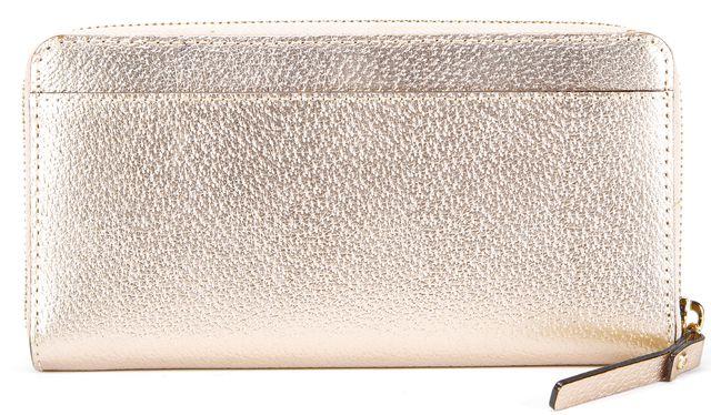 KATE SPADE Rose Gold Leather Neda Wellesley Zip Around Wallet