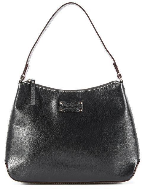 KATE SPADE Black Leather Slim Satchel Shoulder Handbag