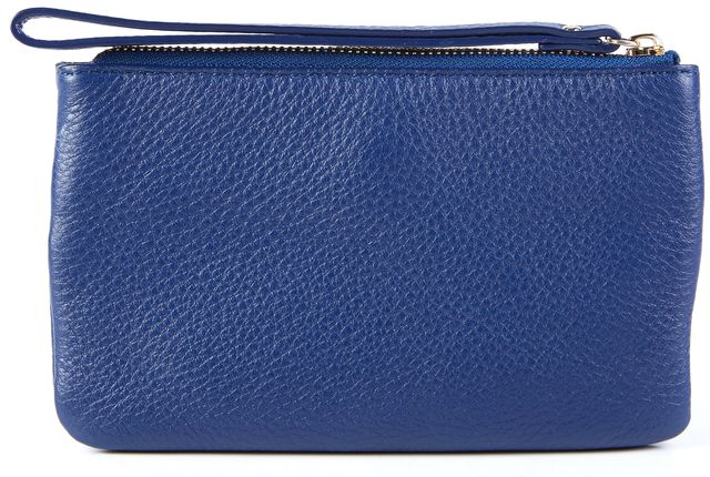 KATE SPADE Navy Blue Leather Mini Wristlet Wallet