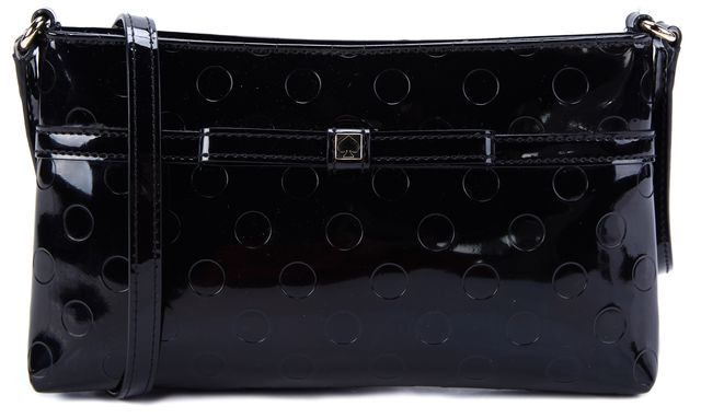KATE SPADE Black Patent Leather Crossbody Handbag