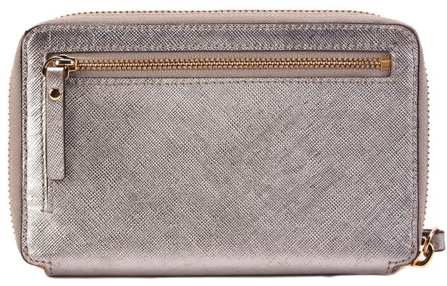 KATE SPADE Silver Leather Wristlet Wallet