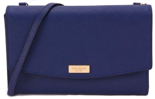 KATE SPADE Blue Leather Wallet Style Crossbody Handbag