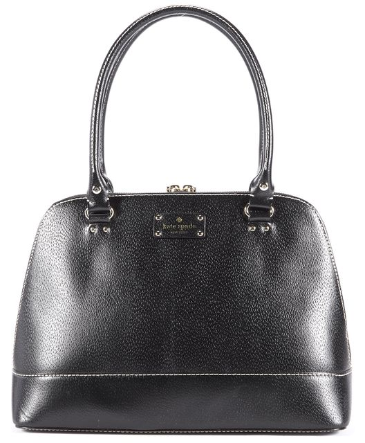 KATE SPADE Black Leather Top Handle Satchel Handbag