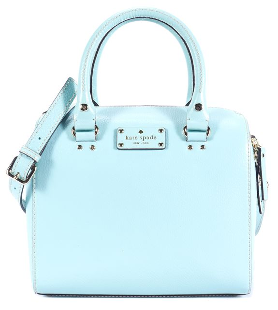 KATE SPADE Sea Foam Leather Satchel Top Handle Bag