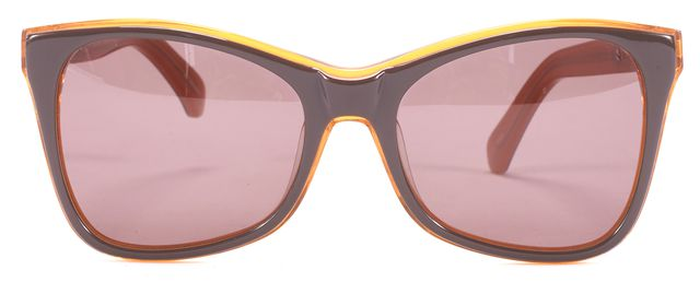 KAREN WALKER Brown and Orange Perfect Day Butterfly Sunglasses
