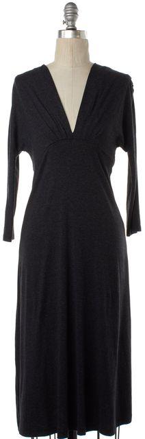 L'AGENCE Gray Stretch V-Neck Dress