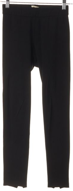 L'AGENCE Black Blue Ankle Zip Casual Pant Leggings