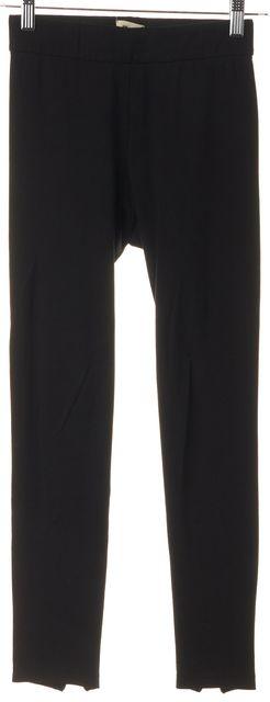 L'AGENCE Black Blue Ankle Zip Casual Pant Leggings