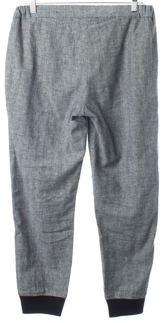 L'AGENCE Gray Black Suited Linen Jogger Pants