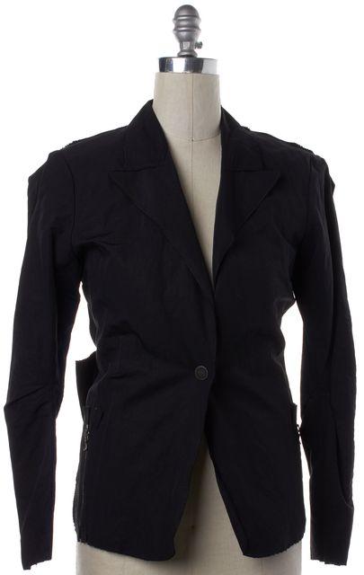 LANVIN Black Bow Embellished Single Button Blazer