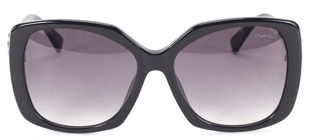 LANVIN Black Blue Marbled Legs Acetate Frame Gradient Lens Square Sunglasses