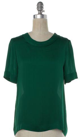 LANVIN Green Silk Blouse