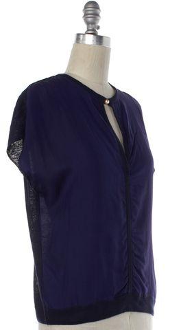 LANVIN Indigo Purple Linen Blouse