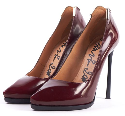 LANVIN Burgundy Red Concealed Platform Pumps