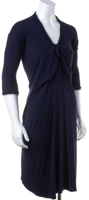 LANVIN Navy Blue Shift Dress