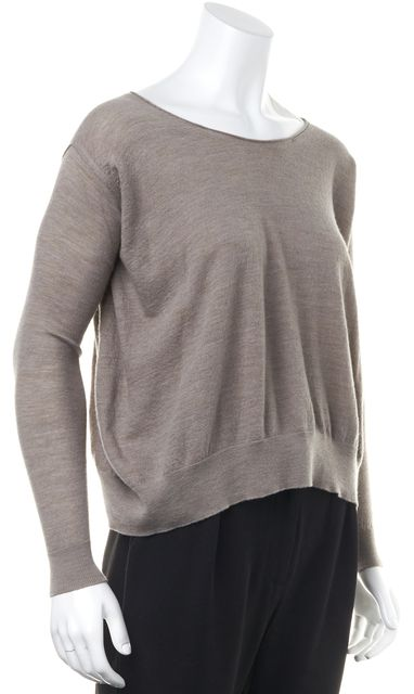 LANVIN Beige Boat Neck Knit Sweater