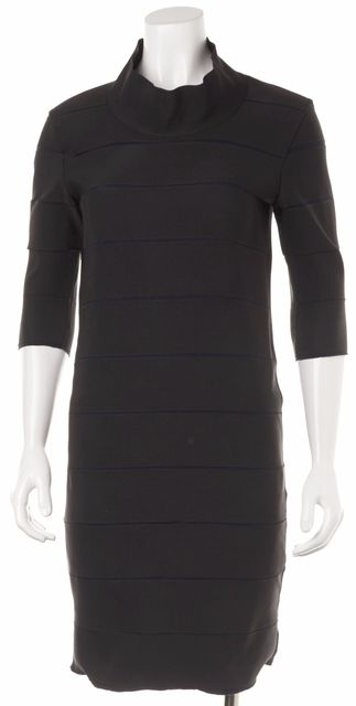 LANVIN Black Navy Bandage Dress