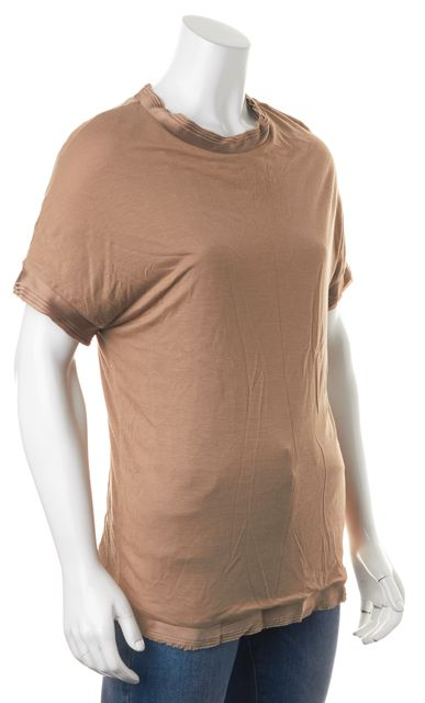 LANVIN Brown Viscose T-Shirt Top