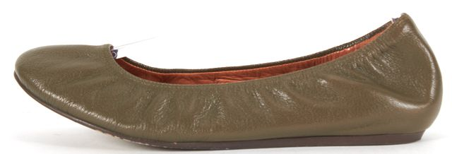 LANVIN Green Leather Flats