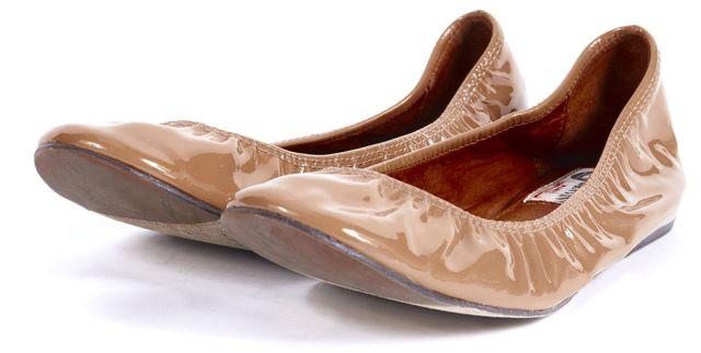LANVIN Brown Patent Leather Ballet Flats