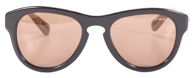 LANVIN Black Beige Acetate Frame Sunglasses