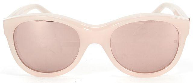 LINDA FARROW Pearl Pink Acetate Round Frame Pink Mirrored Lens Sunglasses