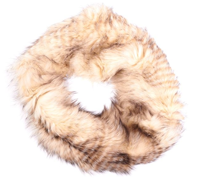 LAFAYETTE 148 Ivory Fox Fur Cashmere Lined Infinity Scarf