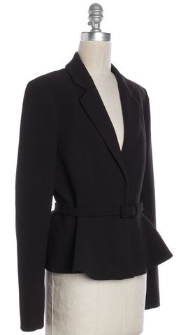 L.K. BENNETT Black Jetta Blazer Jacket Size 6 UK 10