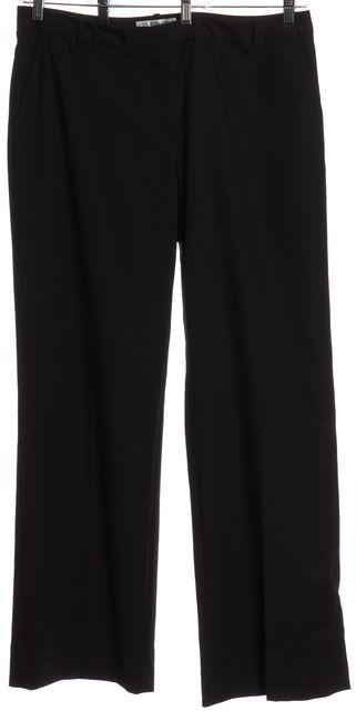 L.K. BENNETT Black Jodie Wide Leg Trousers Pants