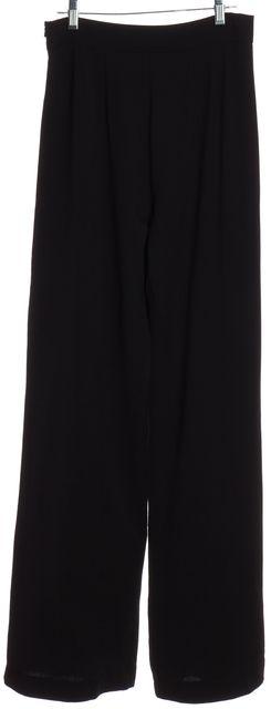 L.K. BENNETT Black Wool Wide Leg Trousers Pants