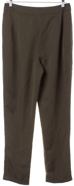 L.K. BENNETT Green Cuffed Casual Pants