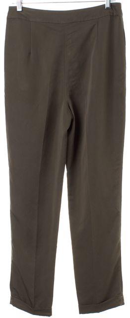 L.K. BENNETT Army Green Cuffed Casual Pants