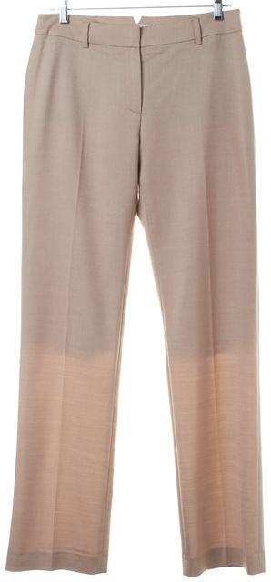 L.K. BENNETT Beige Wide Leg Trousers