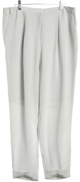 L.K. BENNETT Light Gray Silk Casual Pants