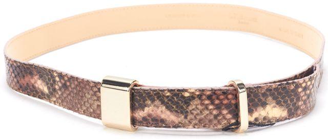 L.K. BENNETT Rose Snake Leather Anna Belt