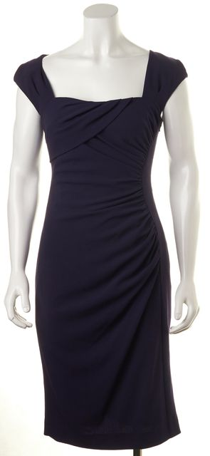L.K. BENNETT Purple Drape Dress