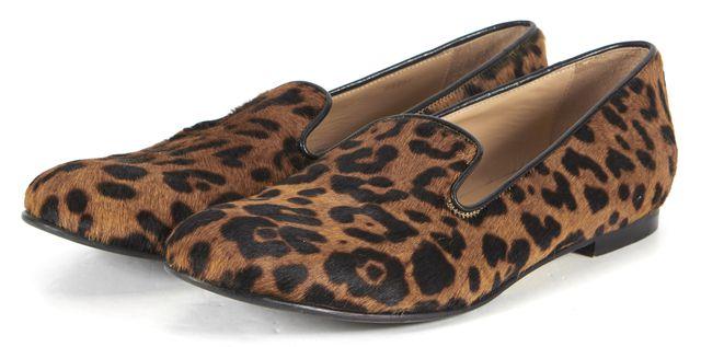 L.K. BENNETT Brown Leopard Animal Print Loafer Flats